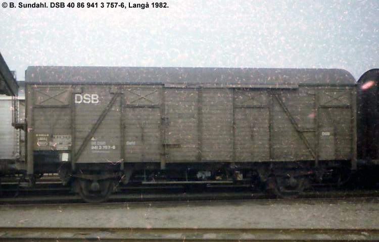 DSB Tjenestevogn 30 86 941 3757 - 8