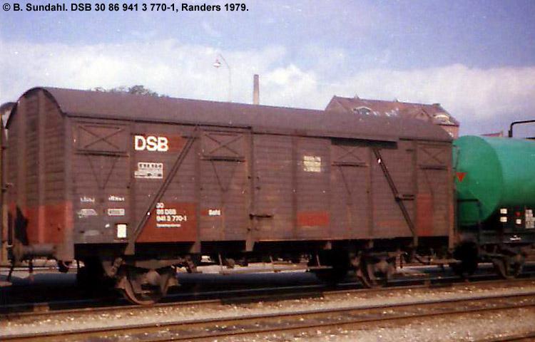DSB Tjenestevogn 30 86 941 3770 - 1