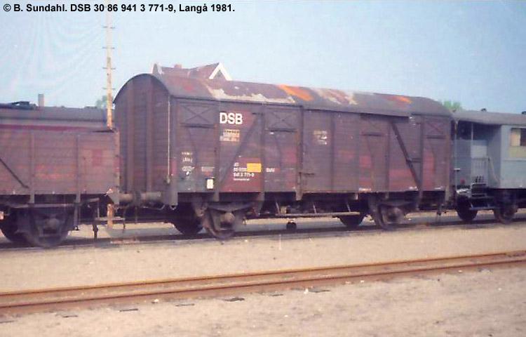 DSB Tjenestevogn 30 86 941 3771 - 9