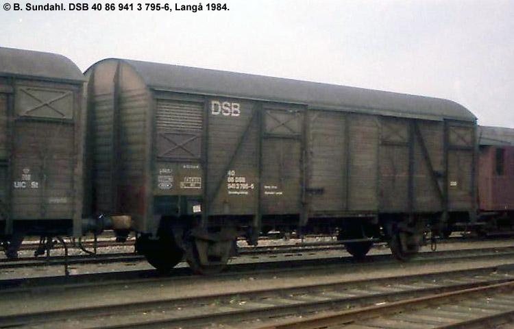 DSB Tjenestevogn 40 86 941 3795 - 6