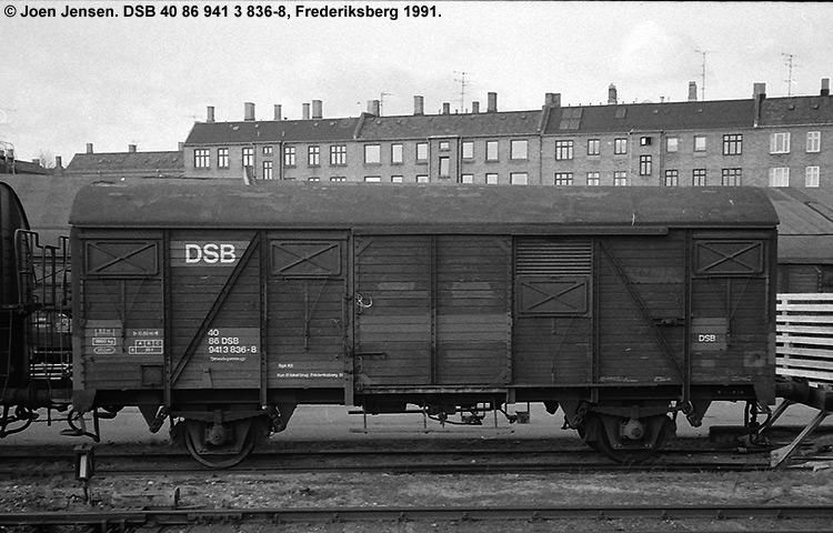 DSB tjenestevogn 40 86 941 3836 - 8