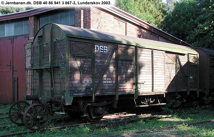 DSB tjenestevogn 40 86 941 3867 - 3