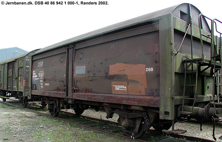 DSB tjenestevogn 40 86 942 1000 - 1
