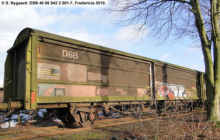 DSB tjenestevogn 40 86 942 2501 - 7