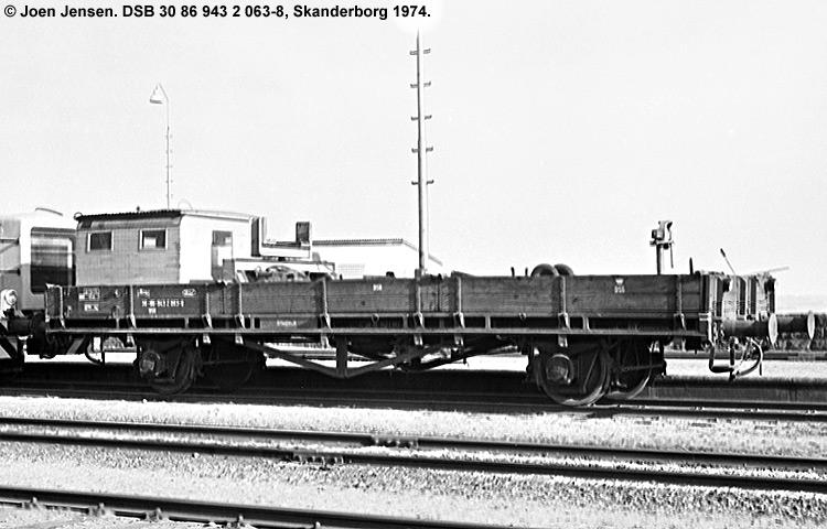 DSB tjenestevogn 30 86 943 2063-8