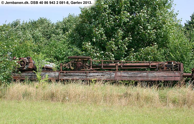 DSB tjenestevogn 30 86 943 2081 - 0