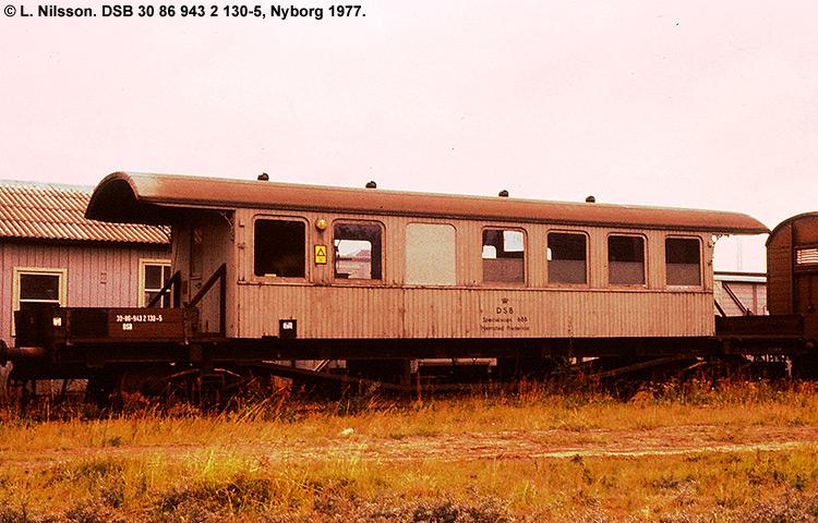 DSB tjenestevogn 30 86 943 2130 - 5