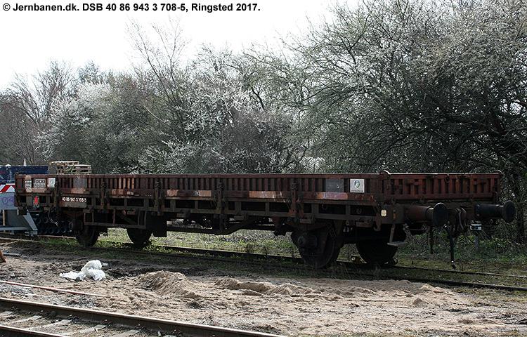 DSB tjenestevogn 40 86 943 3708 - 5