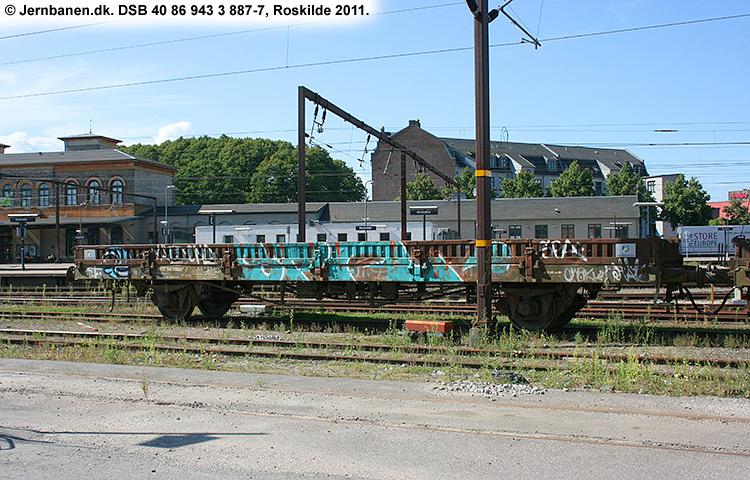 DSB tjenestevogn 40 86 943 3887 - 7