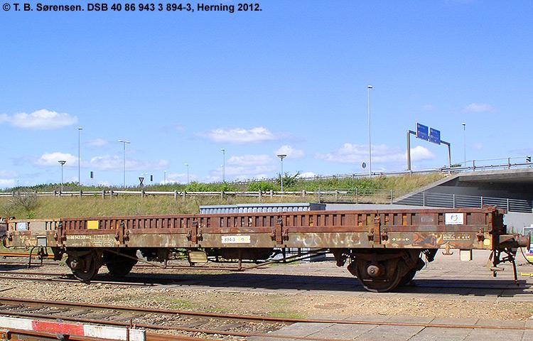 DSB tjenestevogn 40 86 943 3894 - 3