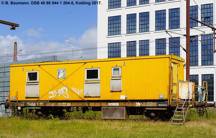 DSB tjenestevogn 40 86 944 1204 - 5