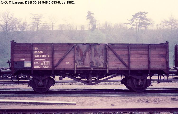 DSB tjenestevogn 30 86 945 0033 - 8
