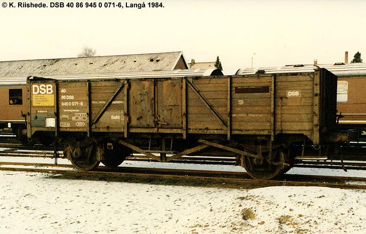 DSB tjenestevogn 30 86 945 0071 - 8
