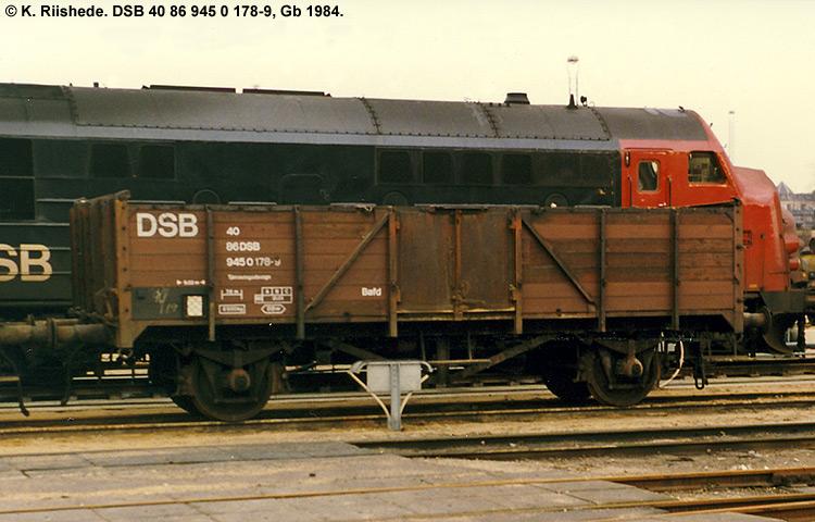 DSB tjenestevogn 30 86 945 0178 - 1