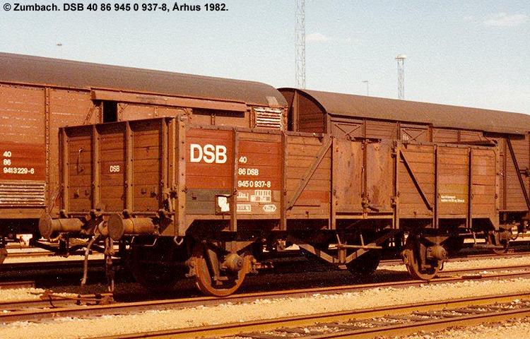DSB tjenestevogn 30 86 945 0937 - 0