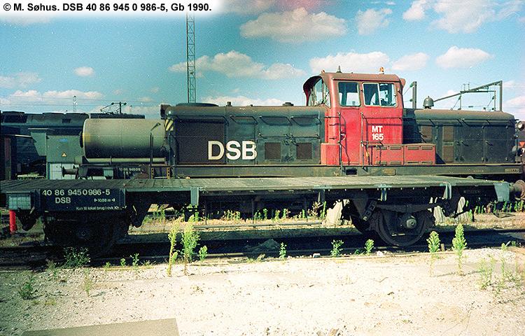 DSB tjenestevogn 40 86 945 0986 - 5