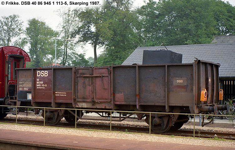 DSB tjenestevogn 40 86 945 1113-5