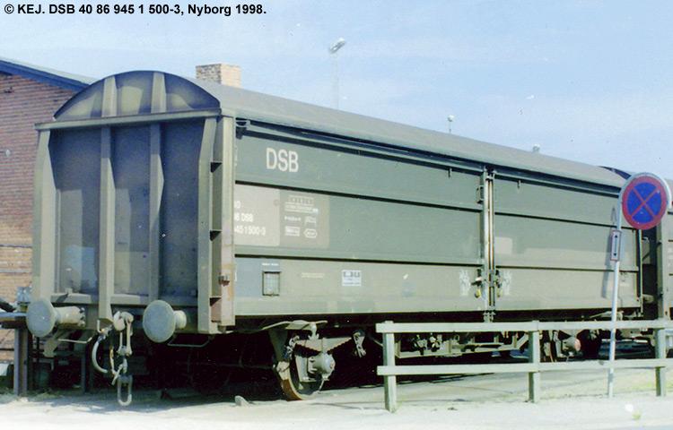 DSB tjenestevogn 40 86 945 1500 - 3