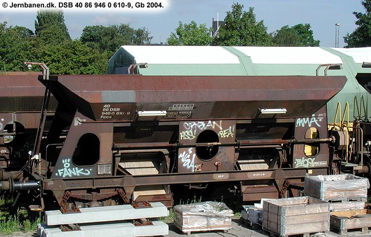 DSB tjenestevogn 30 86 946 0610 - 1