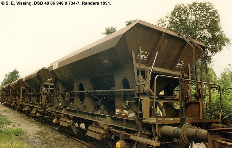 DSB tjenestevogn 30 86 946 0734 - 9