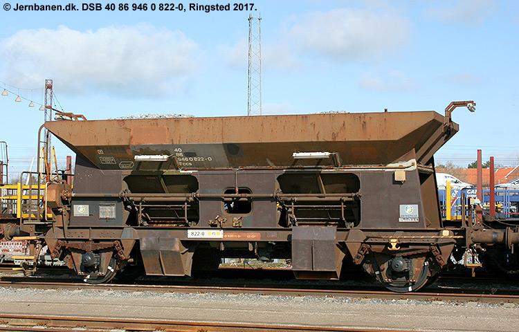 DSB tjenestevogn 30 86 946 0822 - 2
