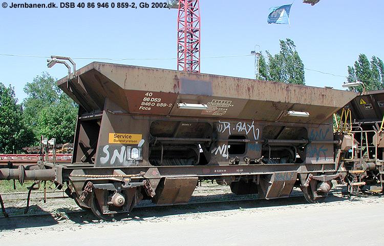DSB tjenestevogn 30 86 946 0859 - 4