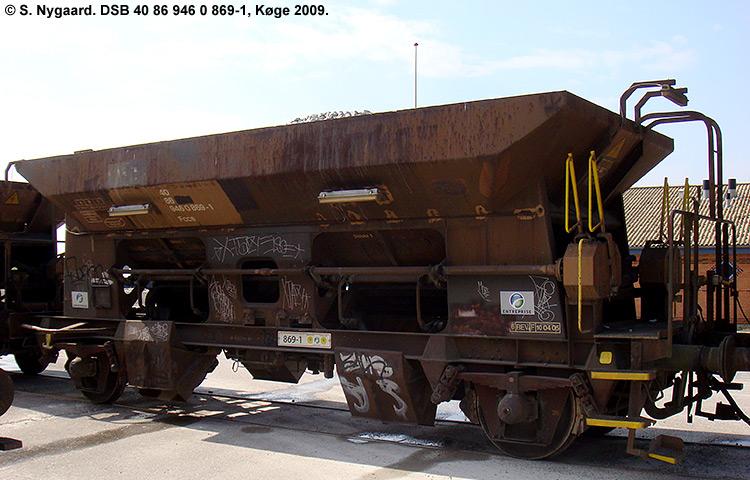 DSB tjenestevogn 30 86 946 0869 - 3