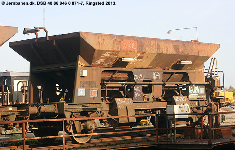 DSB tjenestevogn 30 86 946 0871 - 9