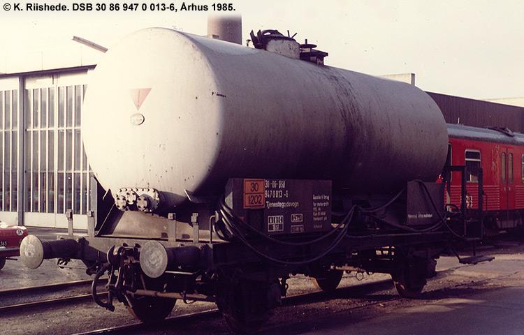 DSB tjenestevogn 30 86 947 0013 - 6
