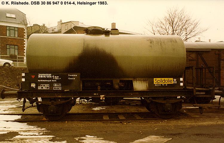 DSB tjenestevogn 30 86 947 0014 - 4
