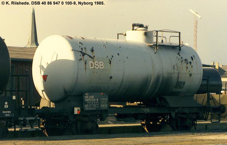 DSB tjenestevogn 40 86 947 0100 - 9