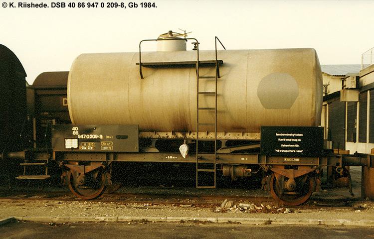 DSB tjenestevogn 40 86 947 0209 - 8