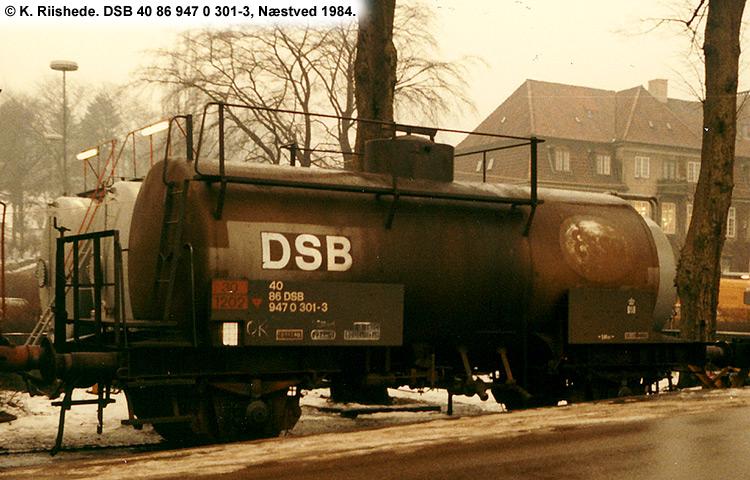 DSB Tjenestevogn 30 86 947 0301 - 5