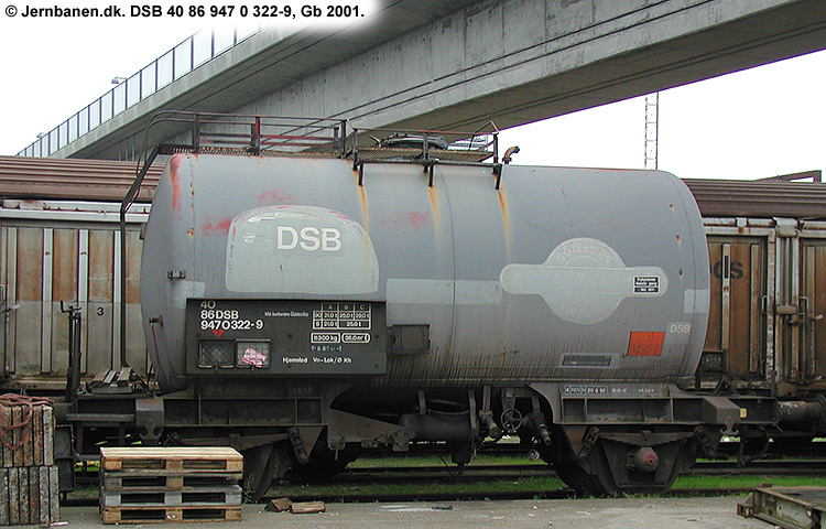 DSB Tjenestevogn 40 86 947 0322 - 9