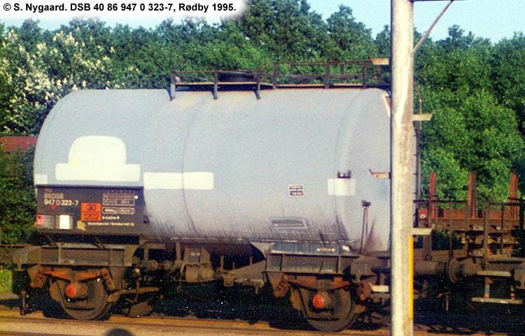 DSB tjenestevogn 40 86 947 0323 - 7
