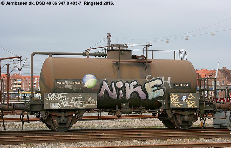 DSB tjenestevogn 40 86 947 0403 - 7