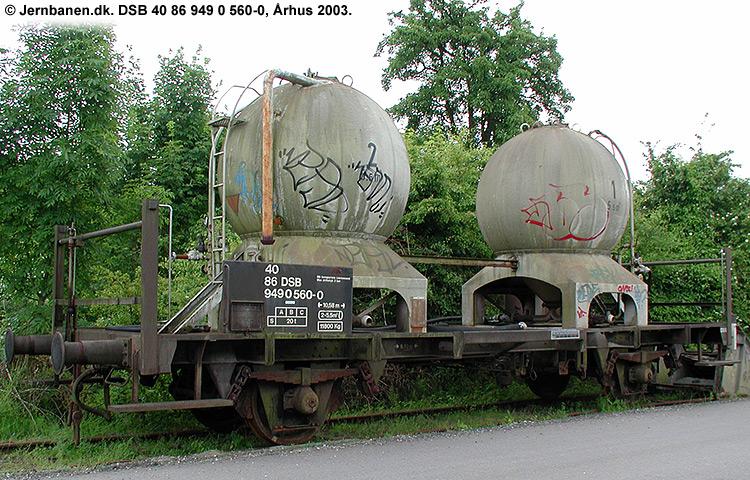 DSB tjenestevogn 40 86 949 0560 - 0