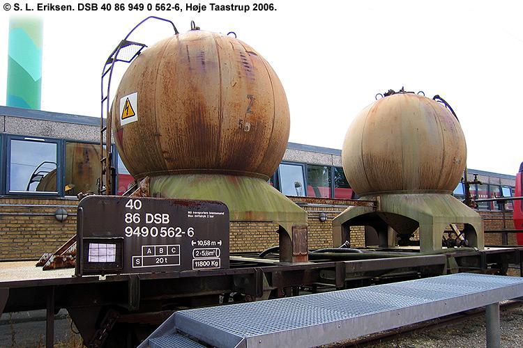 DSB tjenestevogn 40 86 949 0562 - 6