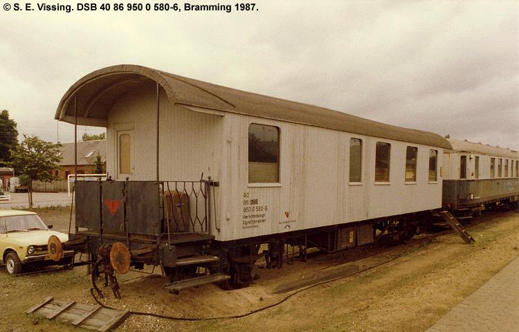 DSB tjenestevogn 40 86 950 0580 - 6