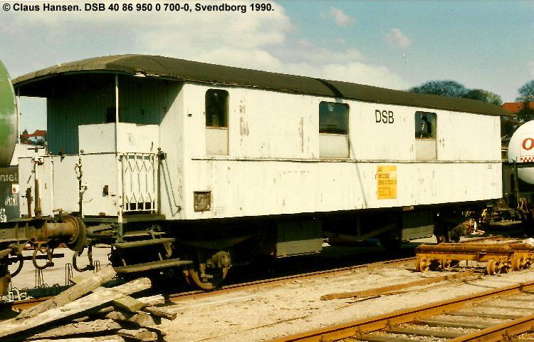 DSB tjenestevogn 40 86 950 0700 - 0