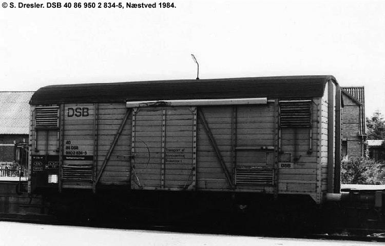 DSB tjenestevogn 40 86 950 2834 - 5