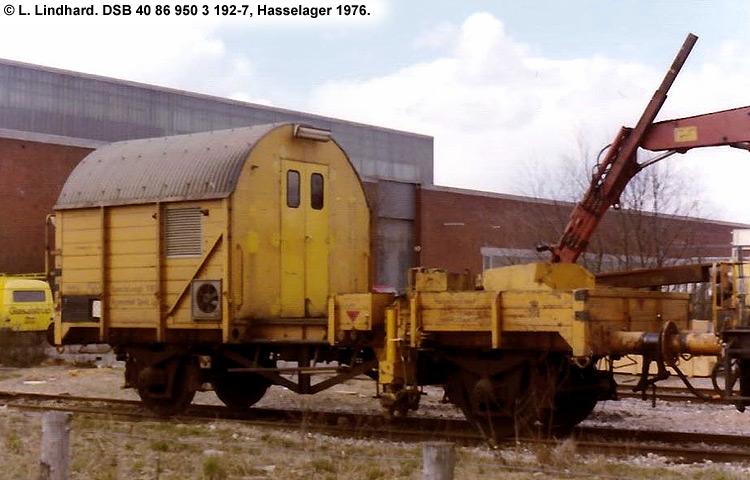 DSB tjenestevogn 40 86 950 3192 - 7