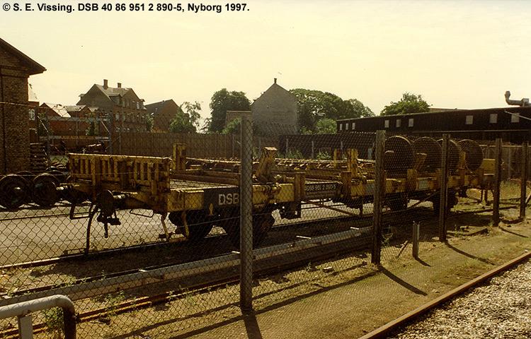 DSB tjenestevogn 40 86 951 2890-5