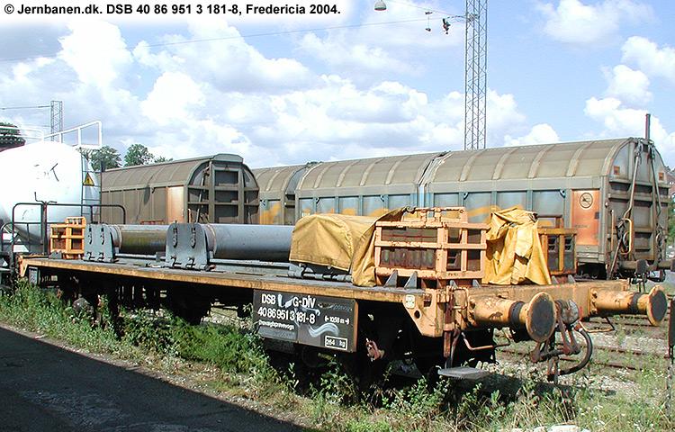 DSB tjenestevogn 40 86 951 3181 - 8