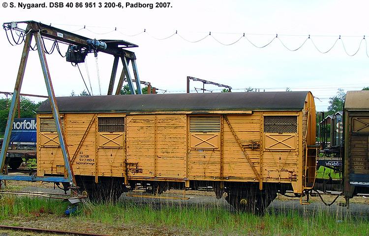 DSB tjenestevogn 40 86 951 3200-6