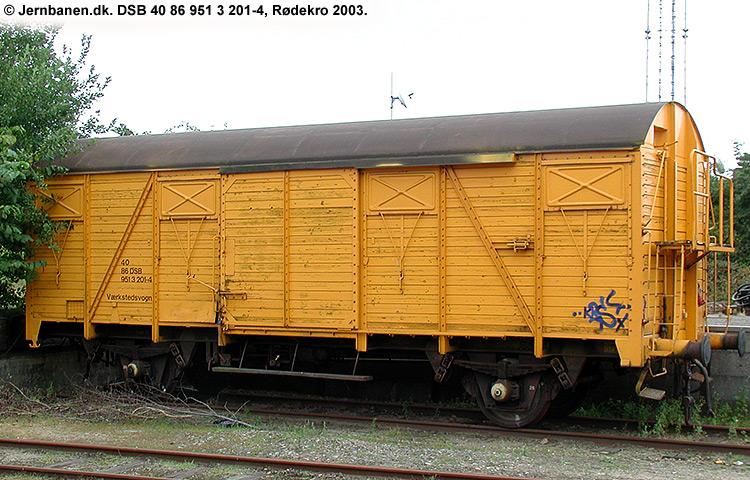 DSB tjenestevogn 40 86 951 3201 - 4