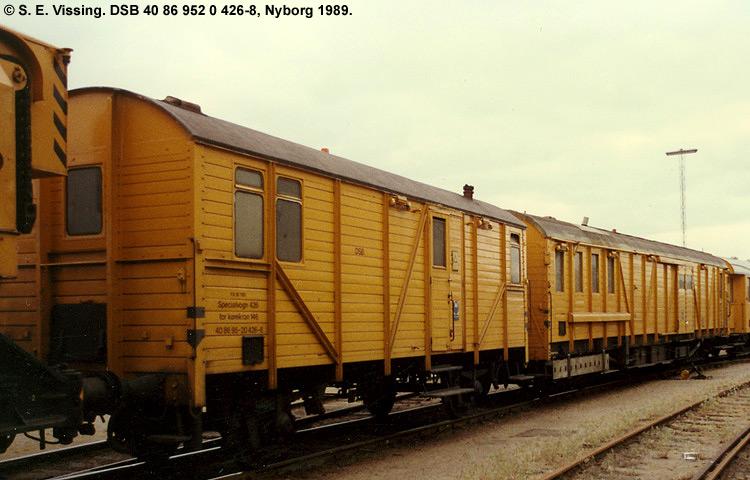 DSB tjenestevogn 40 86 952 0426-8
