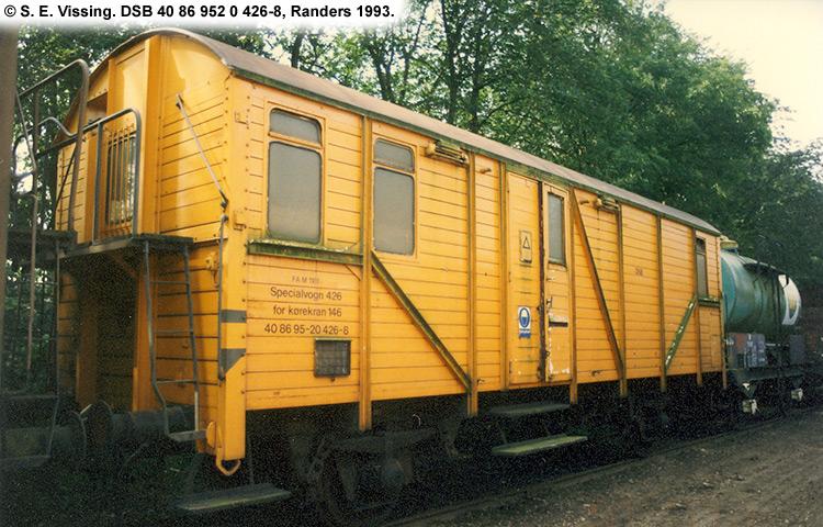DSB Tjenestevogn 40 86 952 0426 - 8