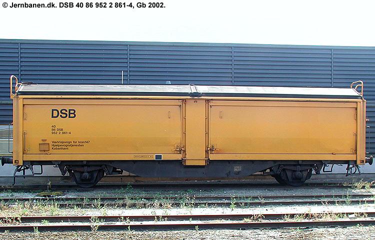 DSB Tjenestevogn 40 86 952 2861 - 4
