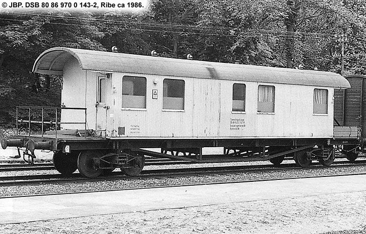 DSB tjenestevogn 80 86 970 0143 - 2